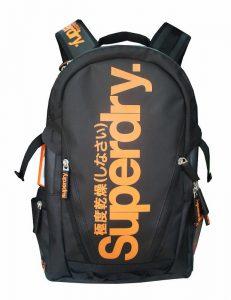Superdry Classic Tarpulin Backpack (Màu Đen/Cam)