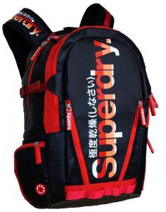 Superdry Classic Tarpaulin Laptop Backpack (Màu Đen/Đỏ)
