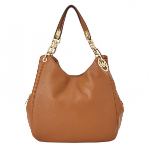 Michael Kors Fulton Large Leather Shoulder Bag – Màu Nâu
