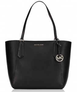 Michael Kors Kimberly Large Leather Bonded Tote – Màu Đen