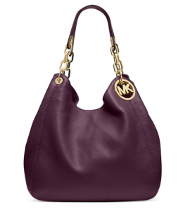 Michael Kors Fulton Large Leather Shoulder Bag – Màu Tím
