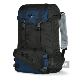 Adidas Topload Double Backpack – Màu Đen/Navy