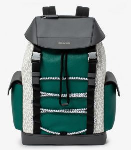 Michael Kors Greyson Color-Block Mixed Media Backpack