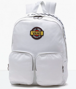 Vans Retro Checkered Black White Rubber Company Outsider Backpack – Màu Trắng
